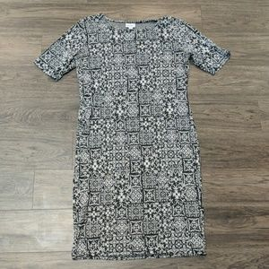 Julia Dress, Black and White